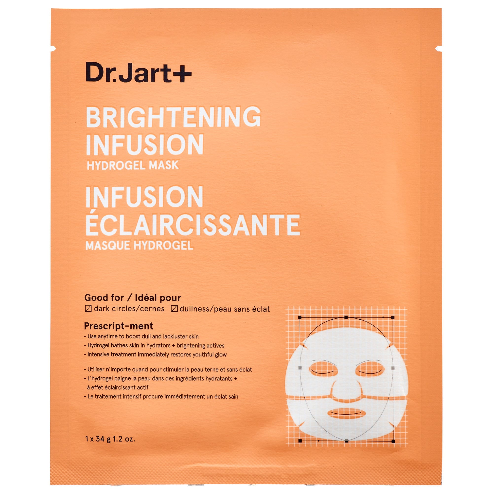 Dr. Jart+ Brightening Infusion Hydrogel Mask. Photo: Sephora.
