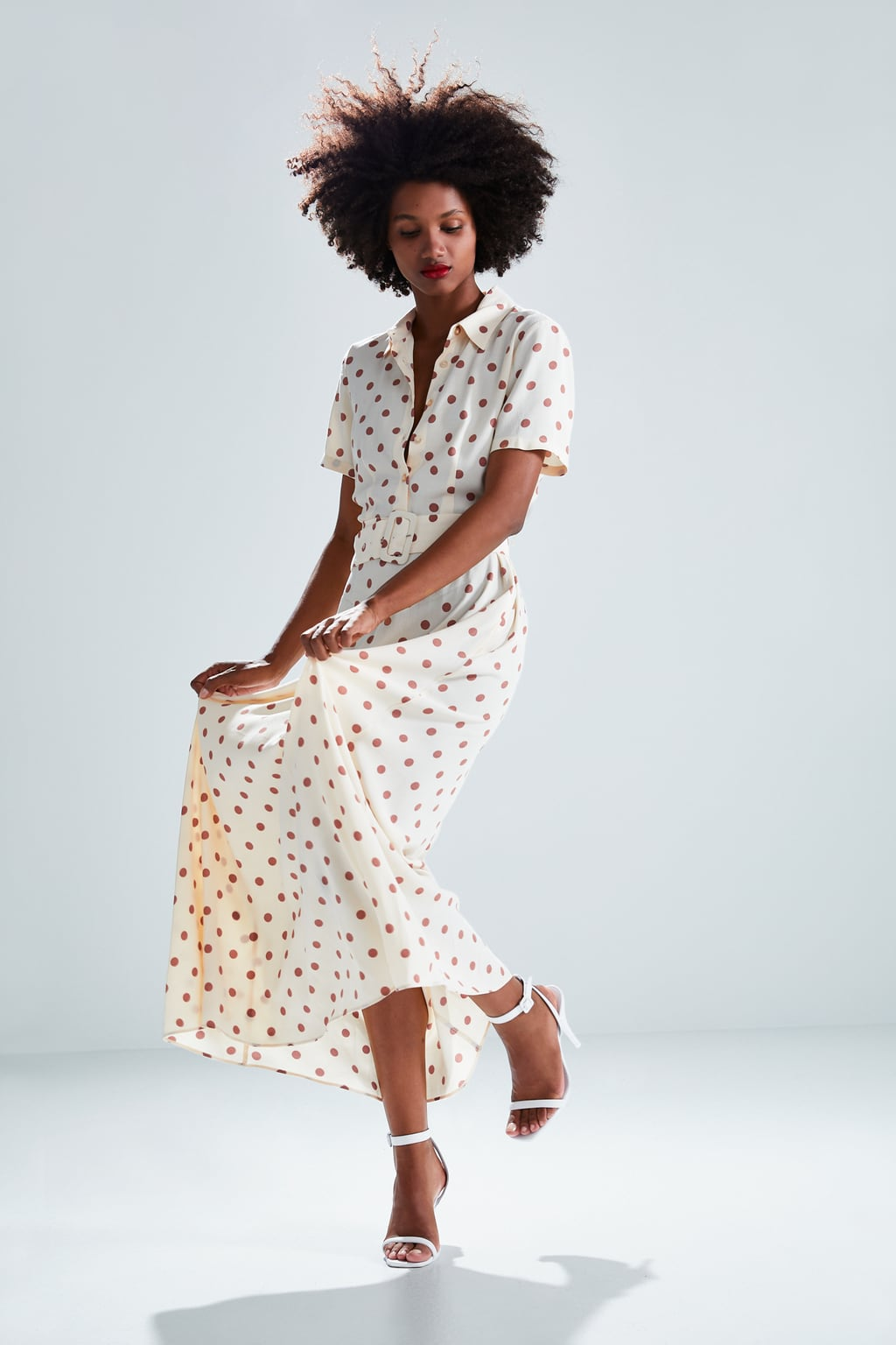 Polka dot dress from Zara, buy it   here.   Photo: Zara.