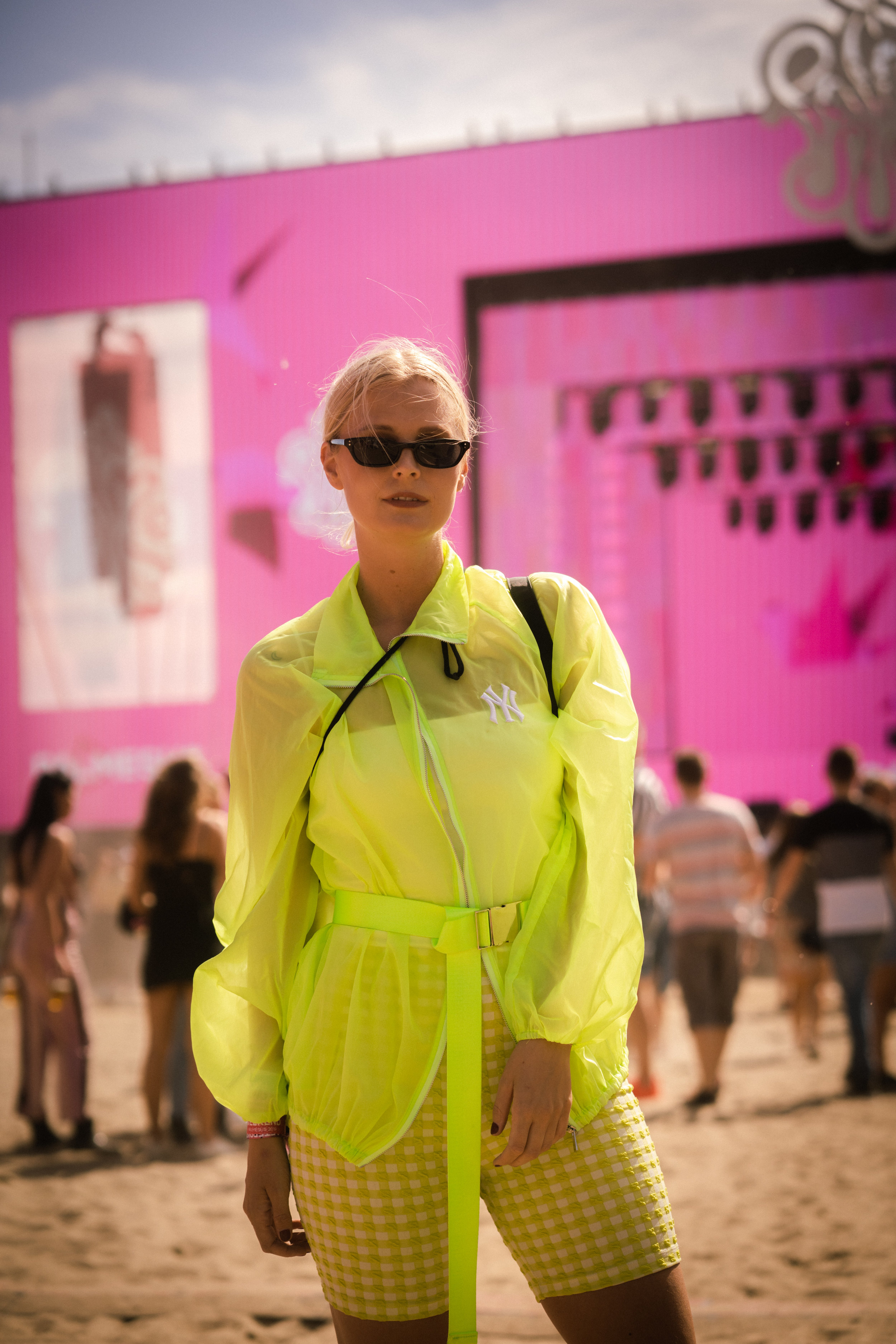 Cecilie Hære    looking fly-oh-my in one of the biggest trends this season, neon! Photo: Sander Berhus / Estér Magazine.