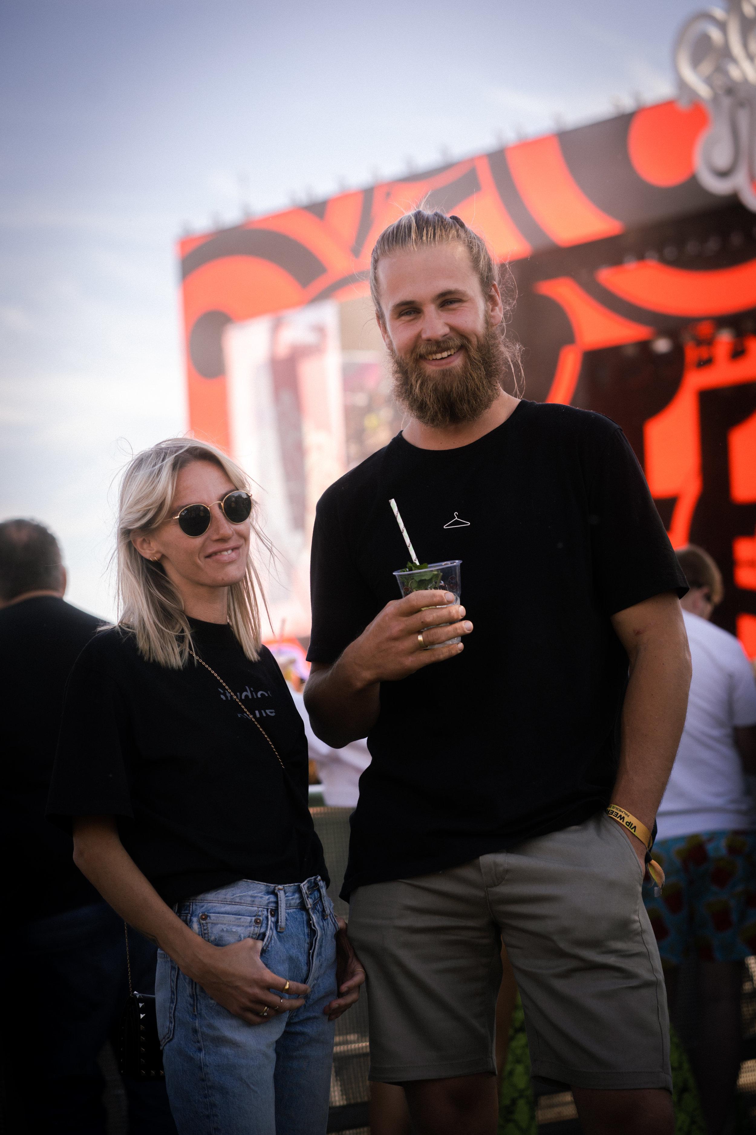 Michelle Grude    and husband    Stein Otto Sørensen    matching in black t-shirts! Photo: Sander Berhus / Estér Magazine.