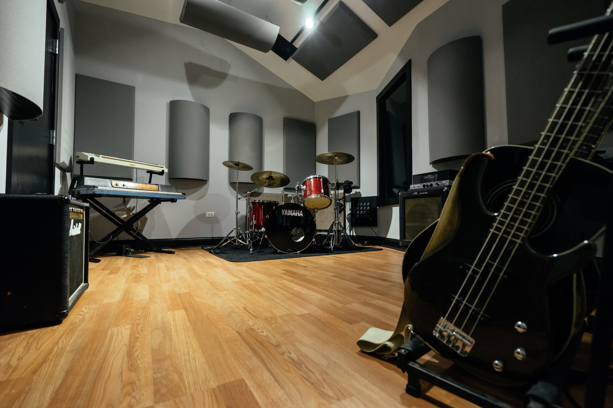 Live Room - Equipped w/two Isolation booths!