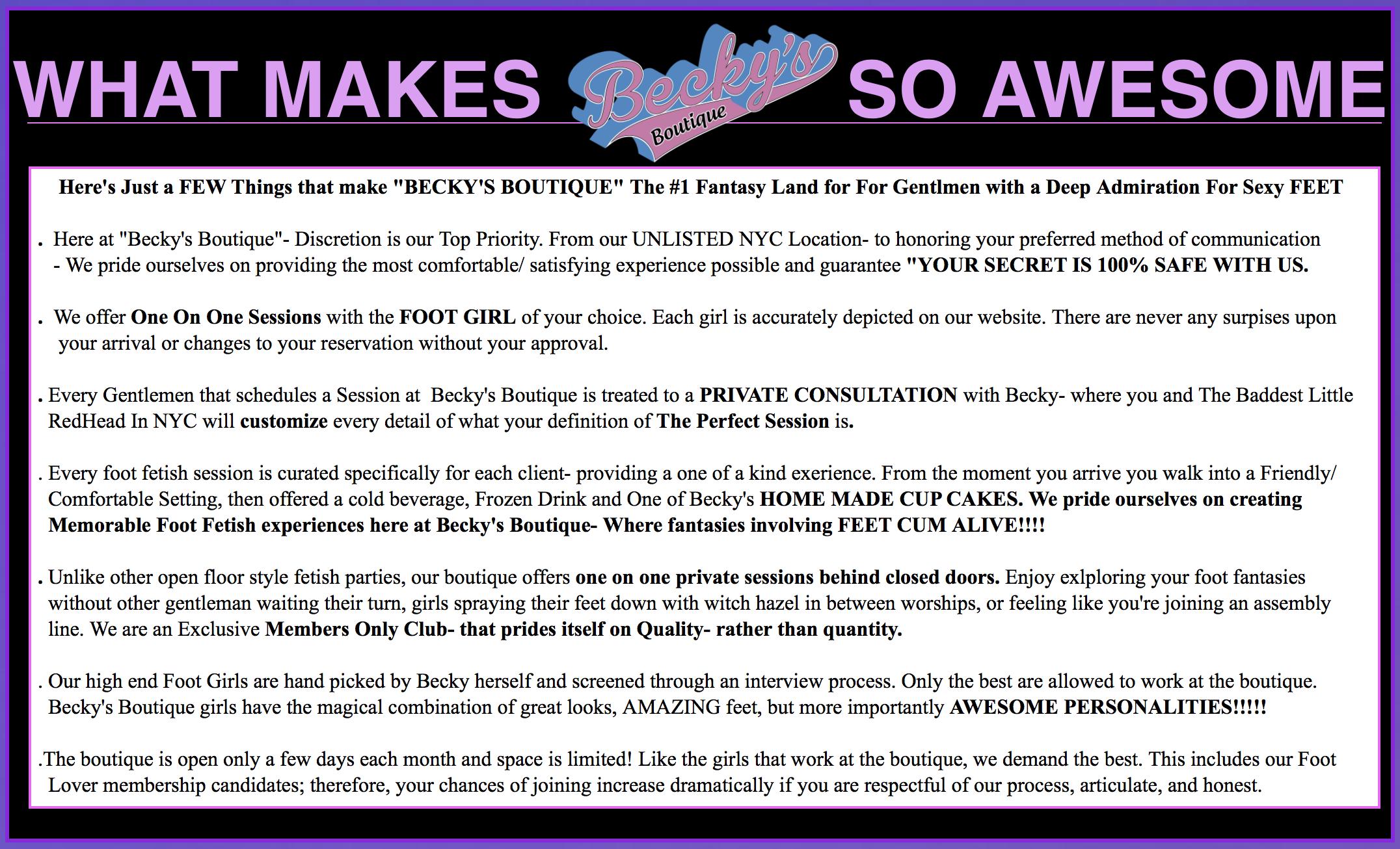 Becky's Boutique Fun & Flirty Info