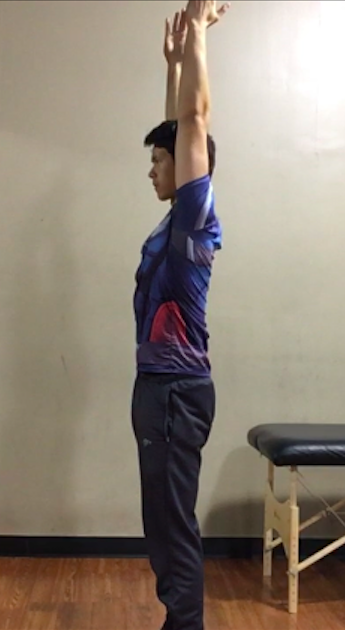 My overhead mobility position at the start