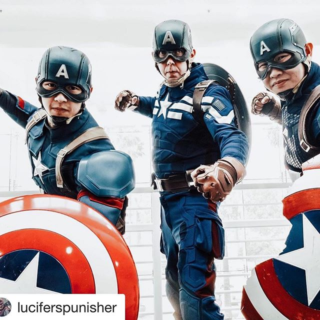 We could do this all day!  Whatever you have going on in life right now, just remember: You got this!!!! Great shot by @lifesabeach1918 aka @luciferspunisher at Ontario Comic Con Revolution a while back!  Civil War: @noobstrength  Stealth: @westonnorm  Endgame: @luciferspunisher  Which Captain America suit is your favorite? . . . . . . #captainamericafan #captainamericacosplay #avengerscosplay #mcucosplay #marvelcosplay #marvelcosplayer #comicconrevolution #cosplayfun #bringmethanos #icandothisallday #cosplays #steverogerscosplay #superherocosplay #marvelcosplayer #comicconvention #headwink