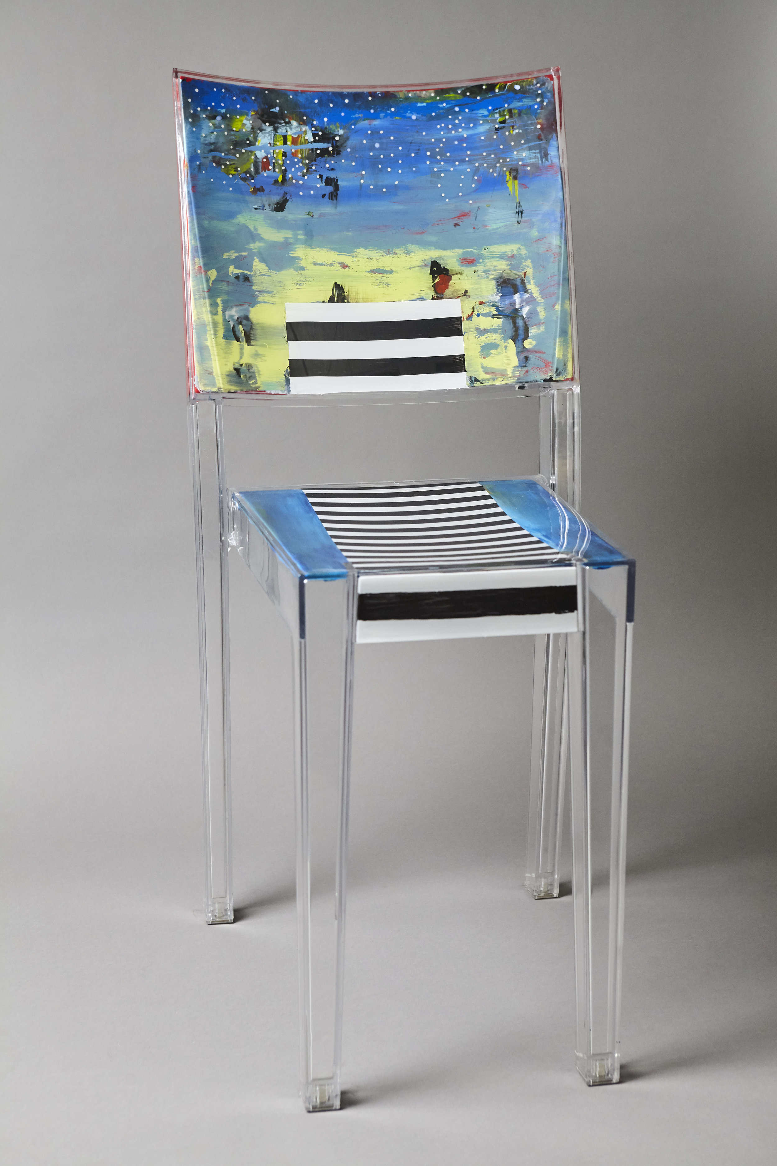Stars and Stripes 1   - acrylic chair