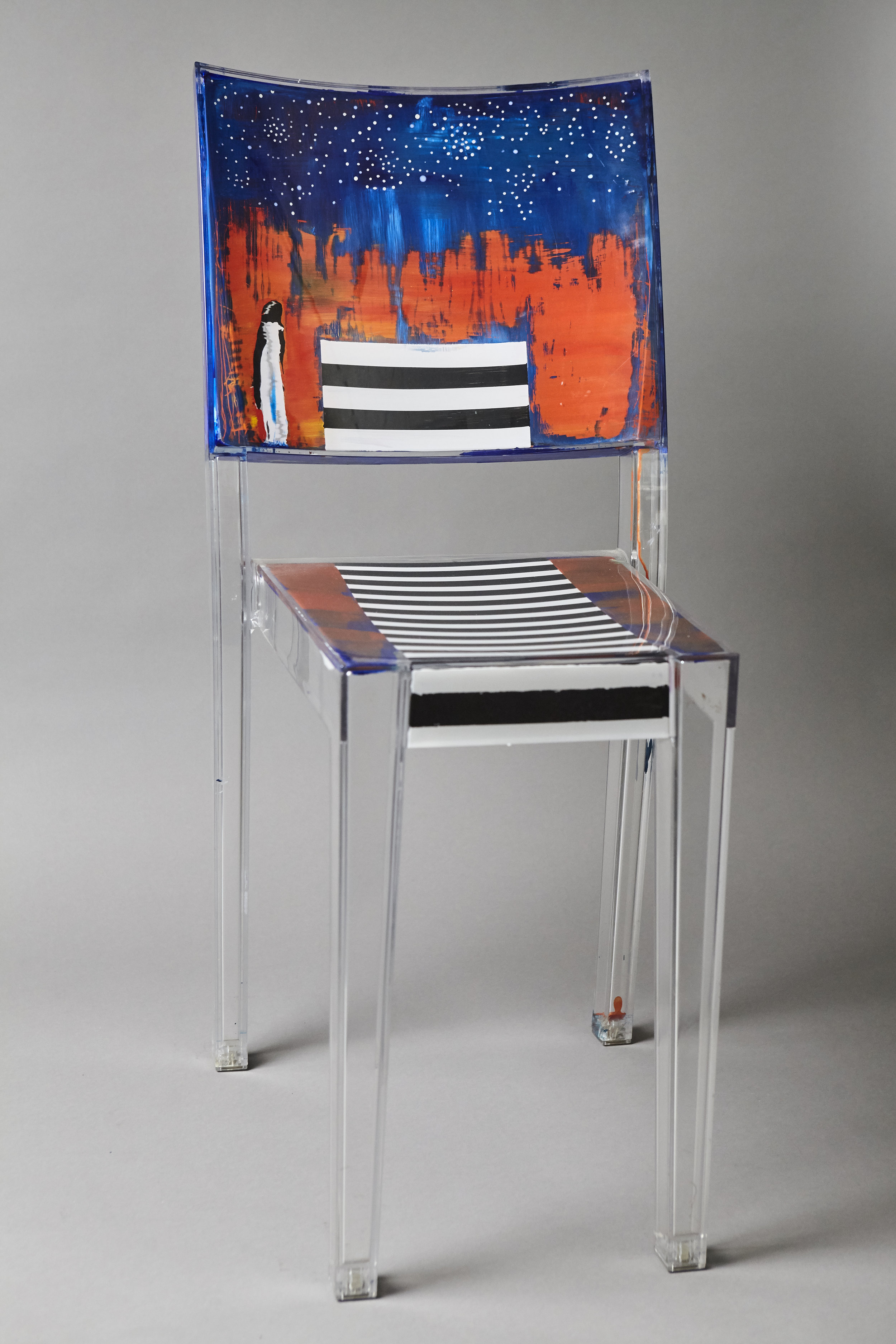 Stars and Stripes 2   - acrylic chair