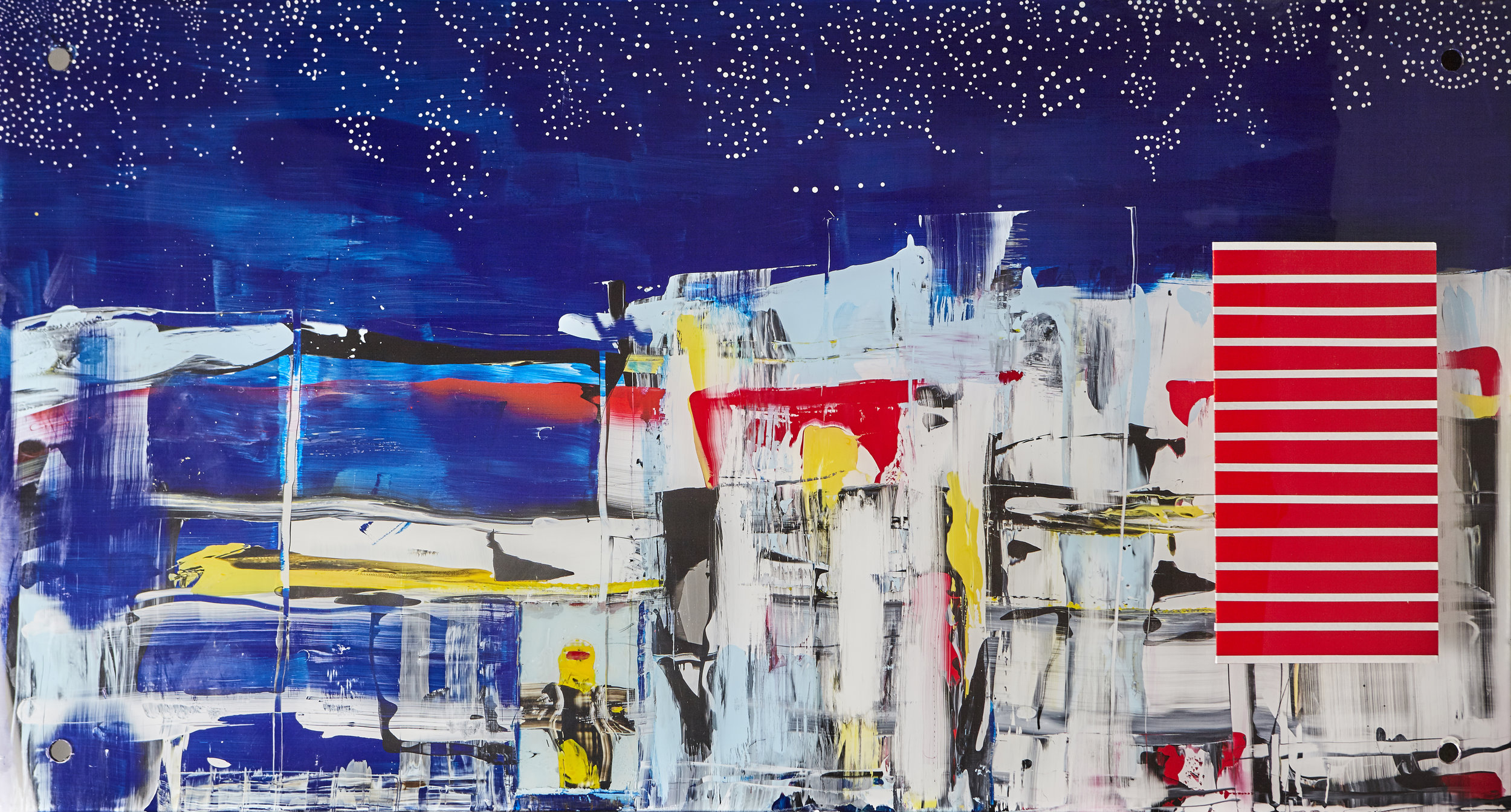 """Contrary Blues   - 26"""" x 48"""" x 2"""""""