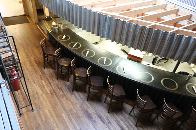 custom curved bar -