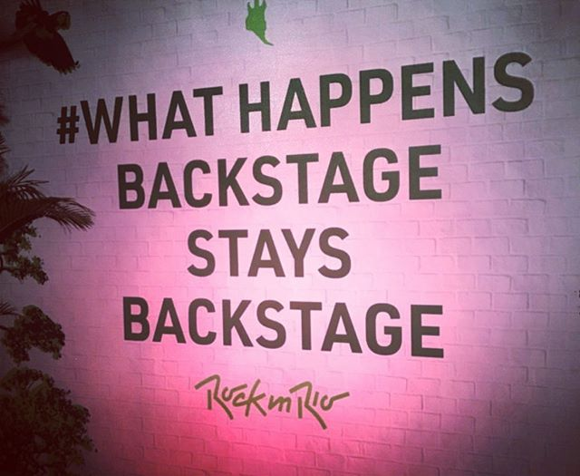 Rock in Rio... Getting  people into trouble since 1985  #whathappensbackstagestaysbackstage #wild #wildmgmt #wildmanagementltd #music #livemusic #artistmanagement #artist_support #promomanagement #tourmanagement #productionlife #liveevents #eventmanagement #artist #band #tourlife #touring