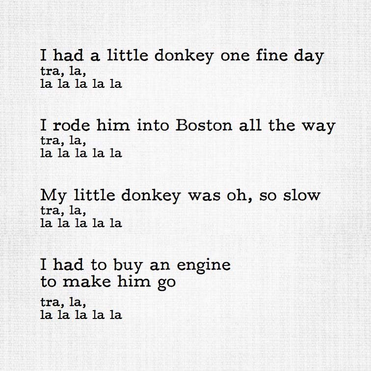 A Little Donkey Song.JPG