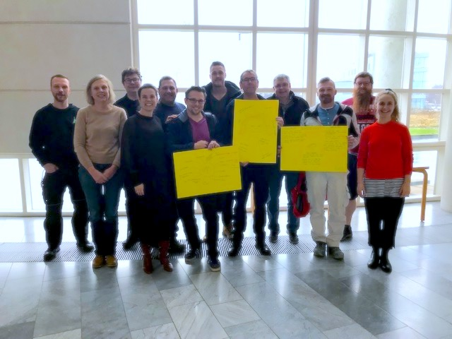 Privat foto fra besøget på Roskilde Tekniske Skole