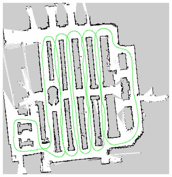 Robot raw map data/path planning