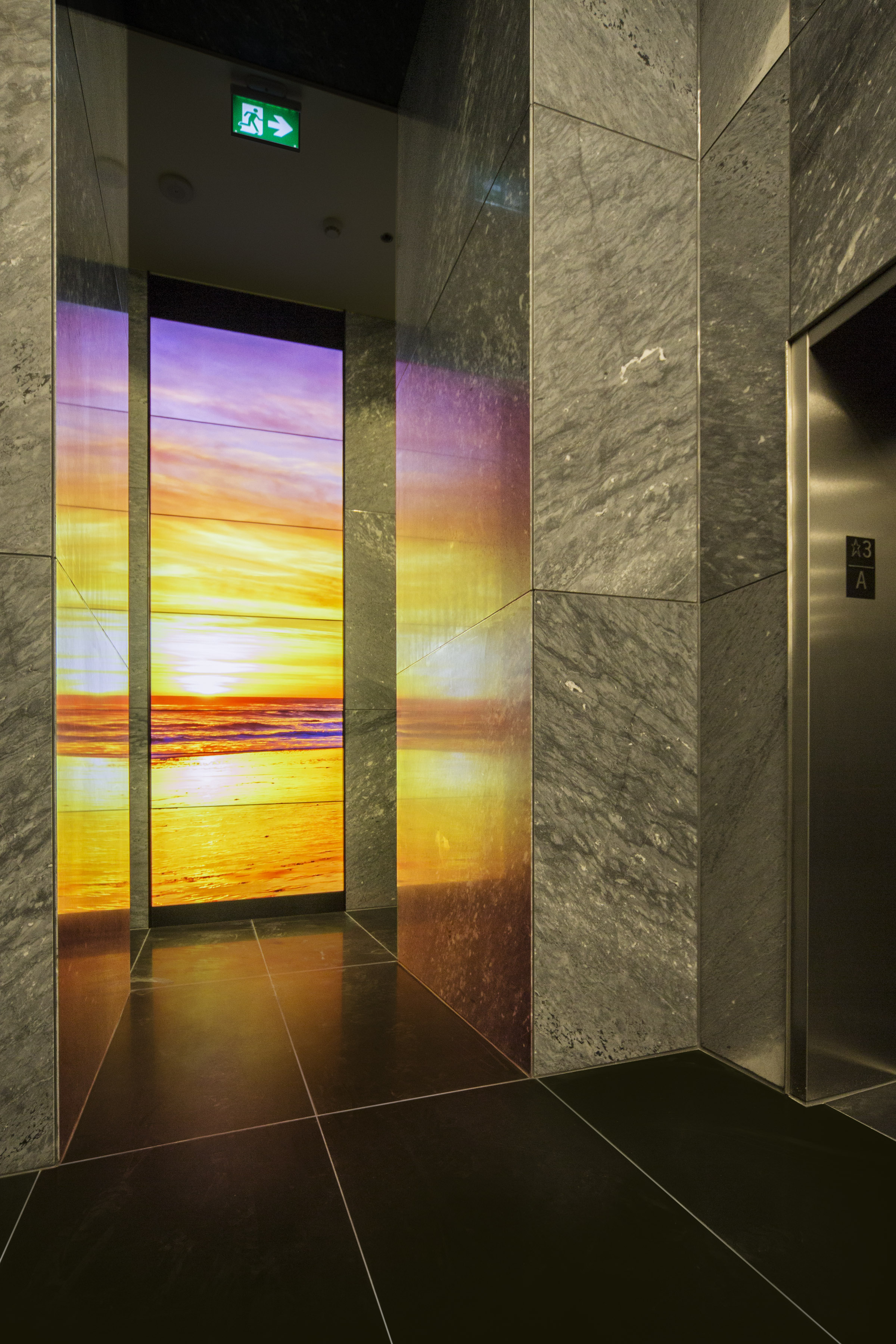 The atmosphere resulting from the glowing installation in the lobby is emotionally rich, and the response from occupants has been exceptional.