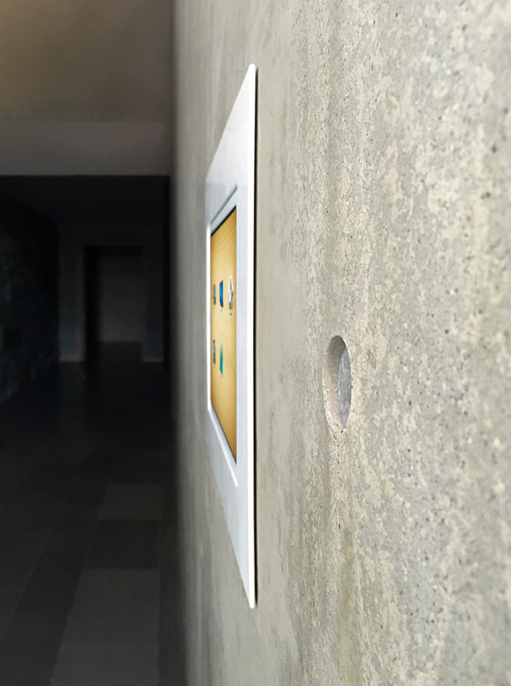Fit tightly into the existing concrete cavity using rare earth magnets, this installation was extremely successful.