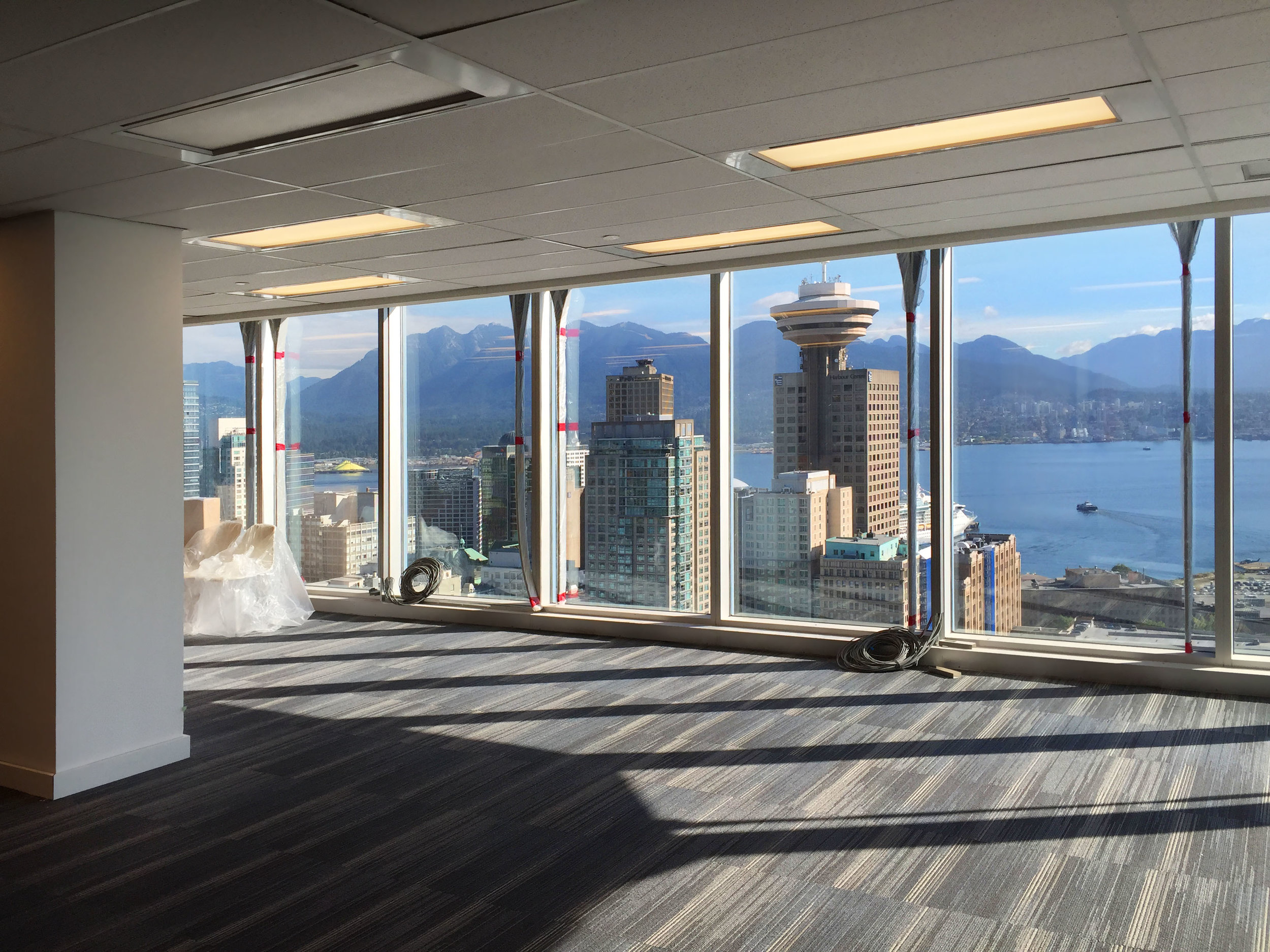 This build took place during the gorgeous springtime in Vancouver, and offered some stellar views of downtown and Burrard Inlet.