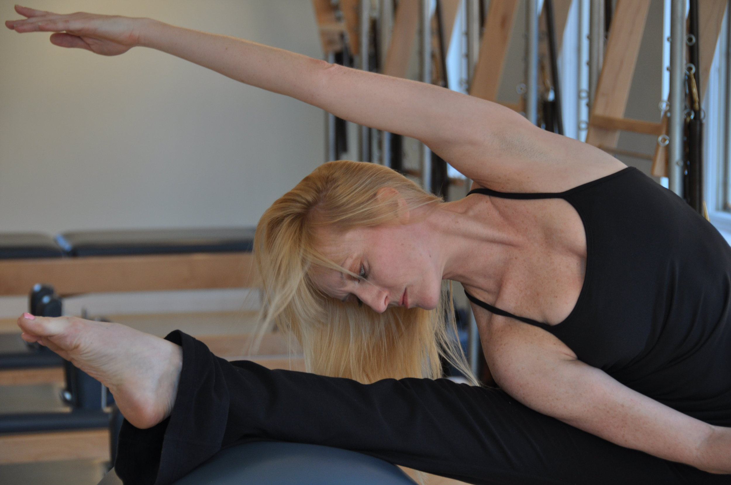 Our Method - Creative in its methodology while maintaining the integrity and the purity of the Joseph Pilates method, Georgetown Pilates approaches movement as preventative medicine to avoid injury, rehabilitate the body, and to enhance and prolong body strength, stamina and mobility.Many students come to us after working in group fitness settings to re-educate and help heal imbalances in the body. At Georgetown Pilates, we start by building a strong foundation and creating awareness of movement within your individual body to rehab and/or prevent injury.Focused on the goal of creating symmetry of body and mind, every new client is given an assessment and movement trial on the Pilates reformer by owner, Heather Perry or a member of her personally trained team of instructors. Once a client has been read and accessed, a unique plan custom built for the individual is put into place to address specific health goals of the client as well as correct any imbalances in the body to improve overall motor functions.