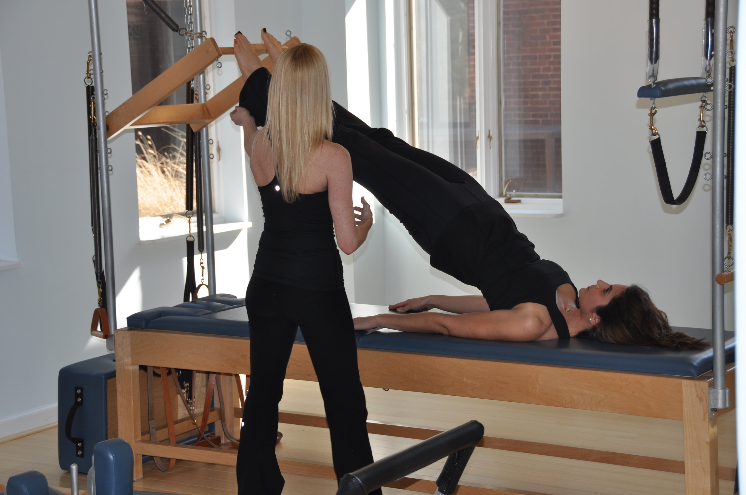 The Studio - Professional athletes, yoga and Pilates teachers, recovering cardio and group class enthusiasts, pre and postnatal practitioners, across all ages and skill levels comprise the unique community at Georgetown Pilates. Although most classes are 1:1 or 1:2 the studio has become a tranquil and welcoming space encouraging all those who practice here to show up as themselves, find acceptance, and tap into a larger community to support wellness of the body and mind.