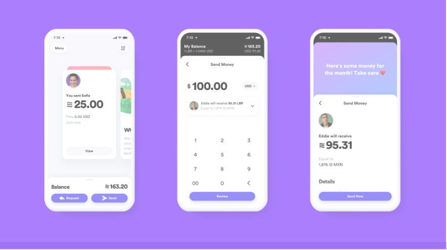 The Calibra wallet includes data and fraud protection for users.   Source: Facebook