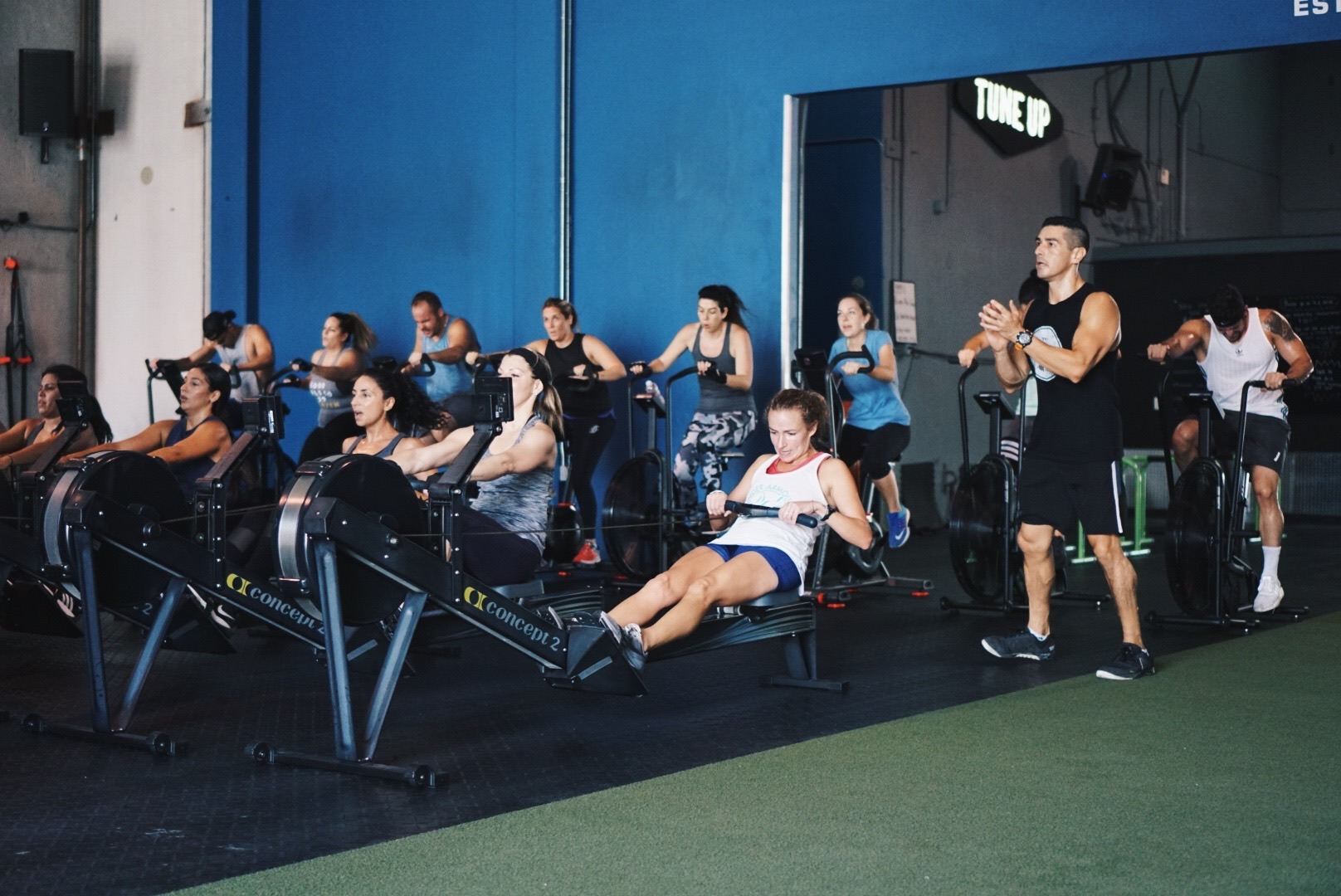 The Racetrack - OUR NEWEST CLASS! This class is a fun CARDIO journey through 9 Miles (stations) testing out all your strengths. Expect to see TRX, assault bikes, ropes, bands, sleds, ski's, rowers, bosu's, kettlebells and so much more. Have fun and get a great workout!