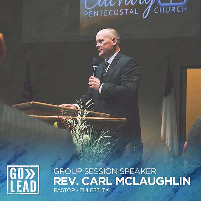 Our host pastor, Rev. Carl McLaughlin, will be speaking at our Thursday group session. Click the link in our bio to register now! #golead19