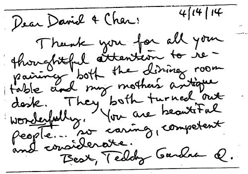 Teddy Gardner - One of our customers in Sellwood