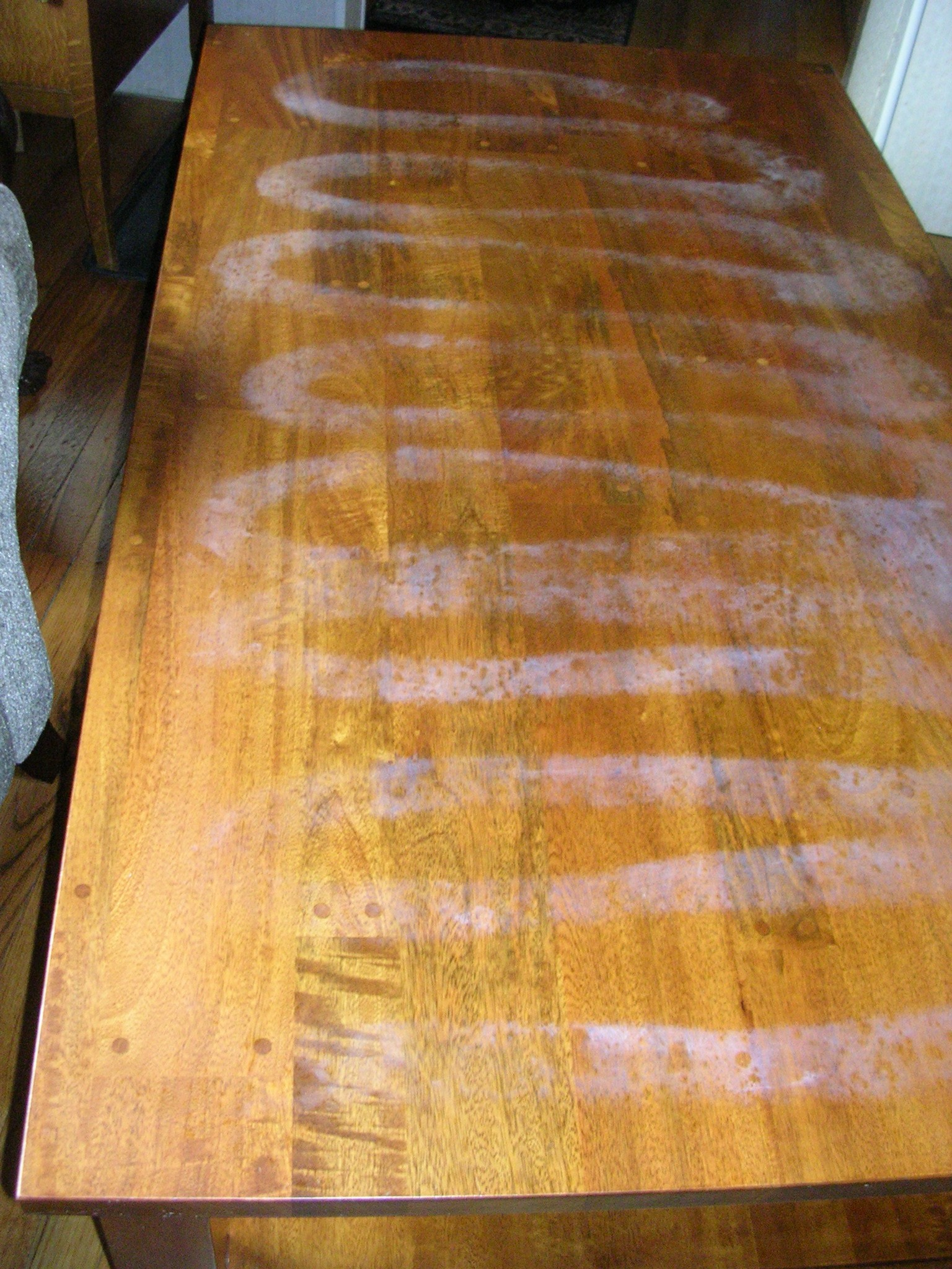 damage REPAIR - • Minor scratches and abrasions• Deep cuts and gouges• Water rings and heat marks• Stains• Pet chews• Damaged veneer