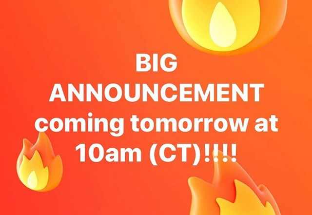 BIG ANNOUNCEMENT coming tomorrow at 10am(CT)!!! Check back in tomorrow!  #bignews #announcement #whatcoulditbe #punkband #anticipation