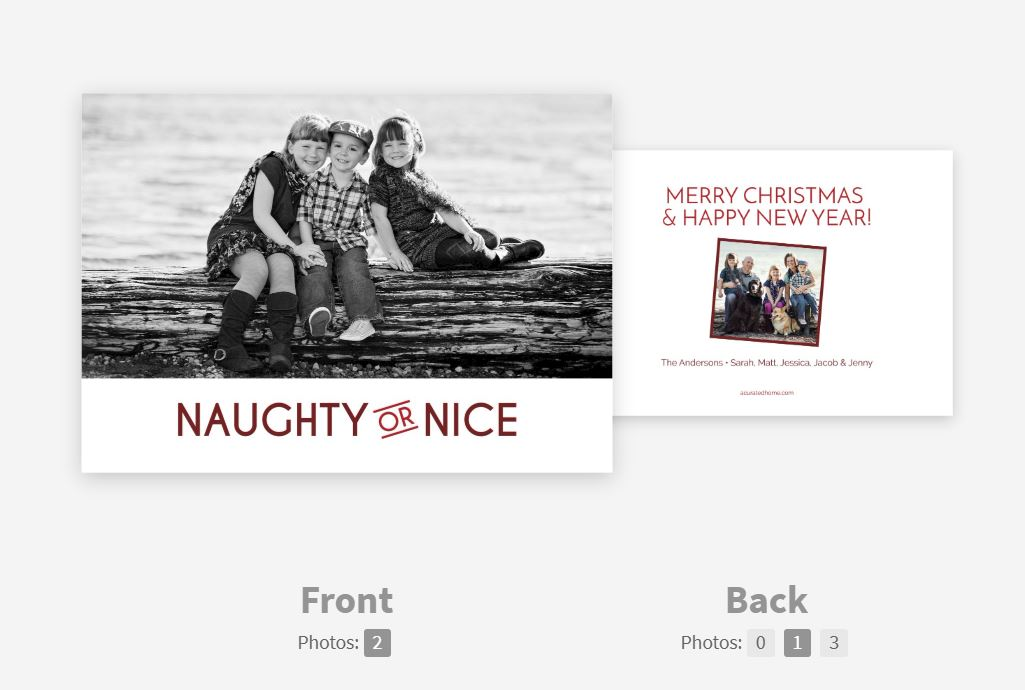 CARD 3: NAUGHTY OR NICE -