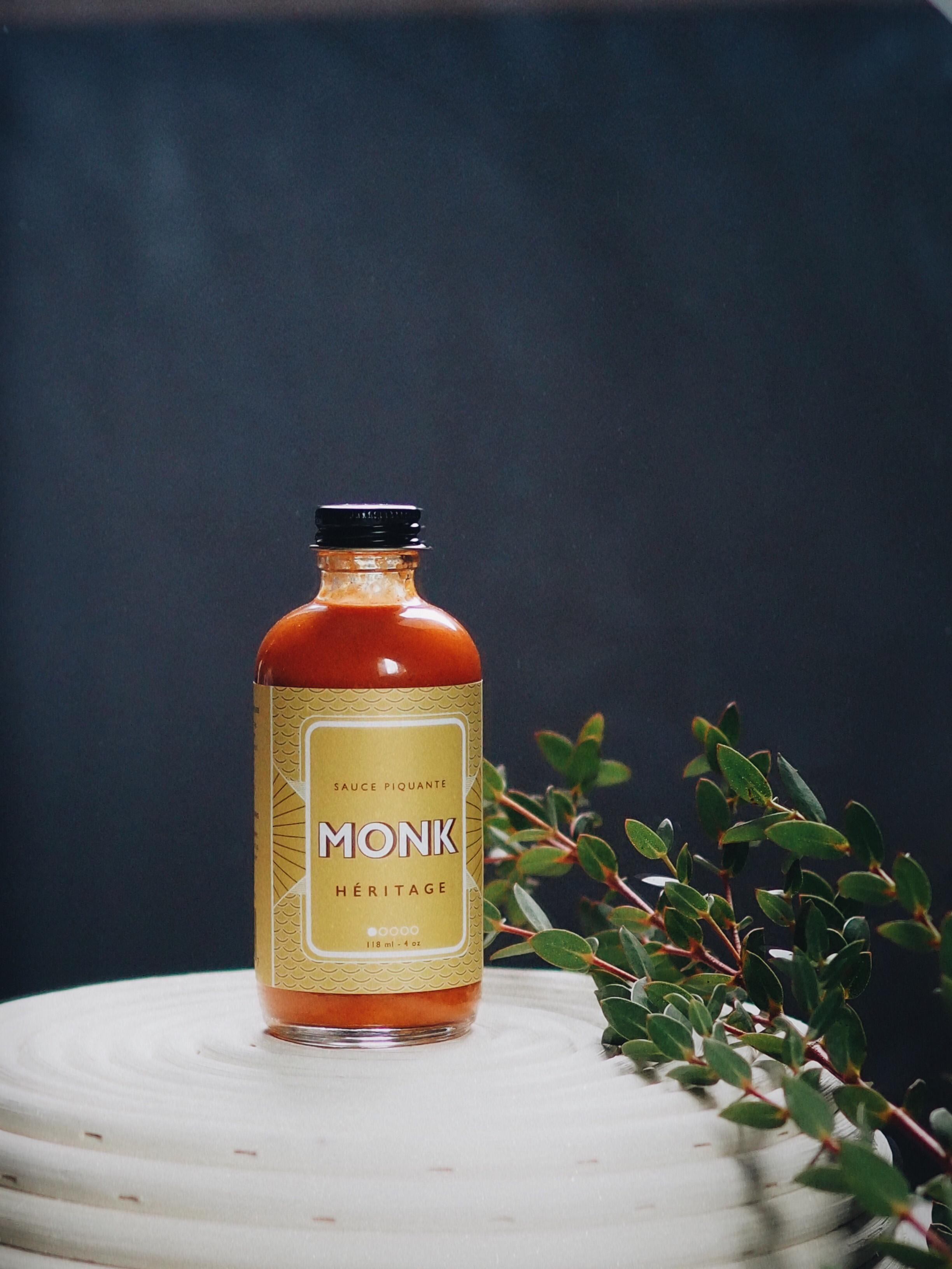 Sauce piquante Héritage de Monk, avec piments forts habanero.