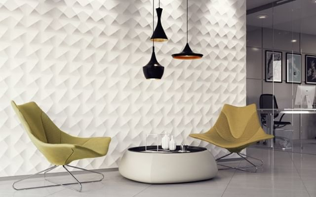 Creating Three Dimensional Texture with the Aura panel . . #artpole #3dpanels #plaster #gypsum #interiors #interiordesign #architecture #featurewall #plasterpanels #australiandesign #plastamasta