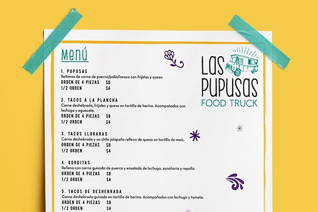Man we sure could go for some delicious pupusas right now! Our client @laspupusasfoodtruck makes some of the best around! Excited to share the design work we've helped them with. Coming soon. • • • • • • #hddc #hellodeerdesignco #dallas #texas #designcompany #designersofinstagram #marketing #thedream #hellodeer #branding #brandbuilders #makegreatdesign #dowhatyoulove #teamwork #menudesign #logodesign #designersofinstagram #mcallen #bilingual #spanish #pupusas #printmarketing #printdesign #yum #design #foodtruck #graphicdesign #menu