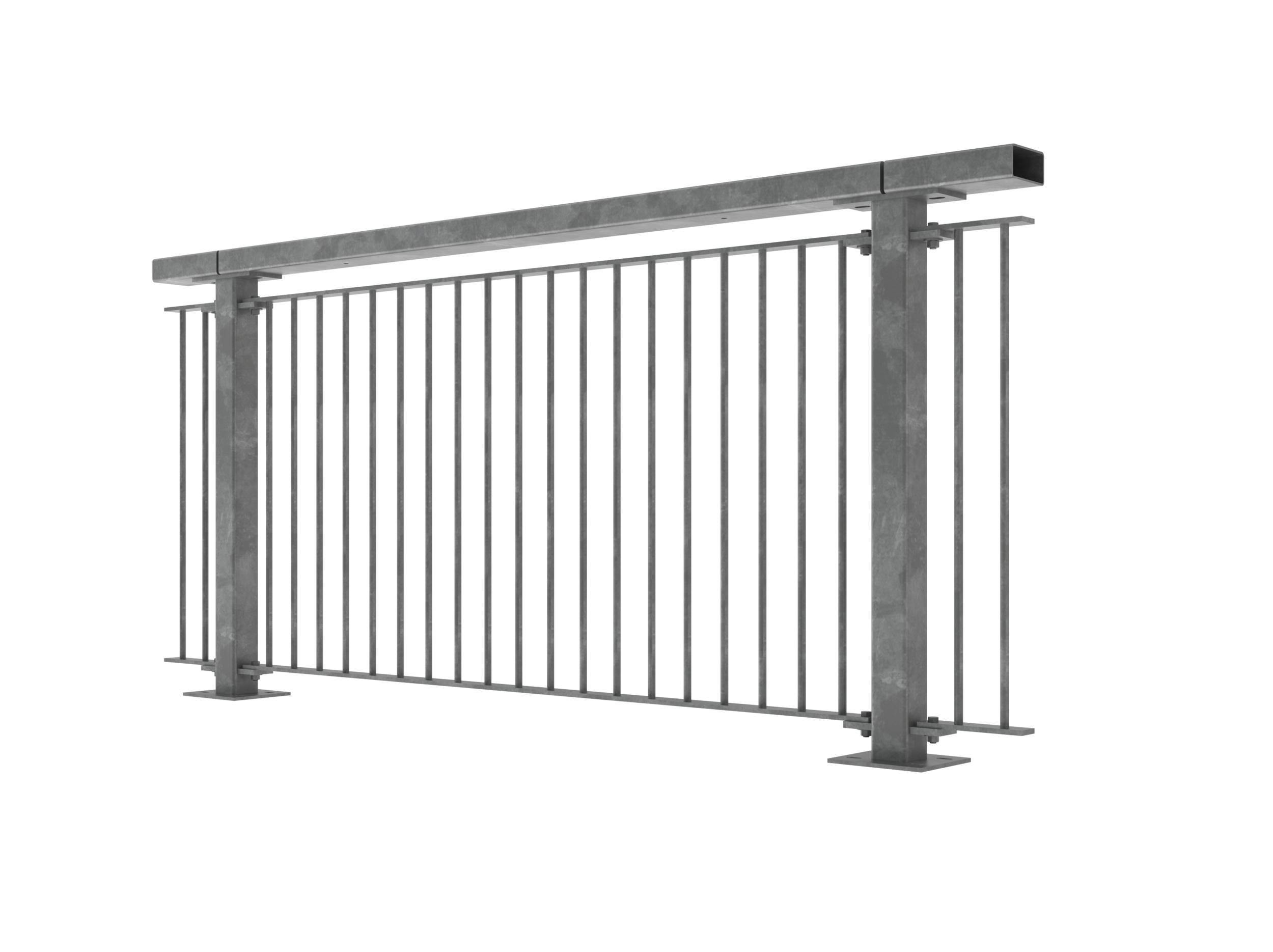 Walkway bridge rails