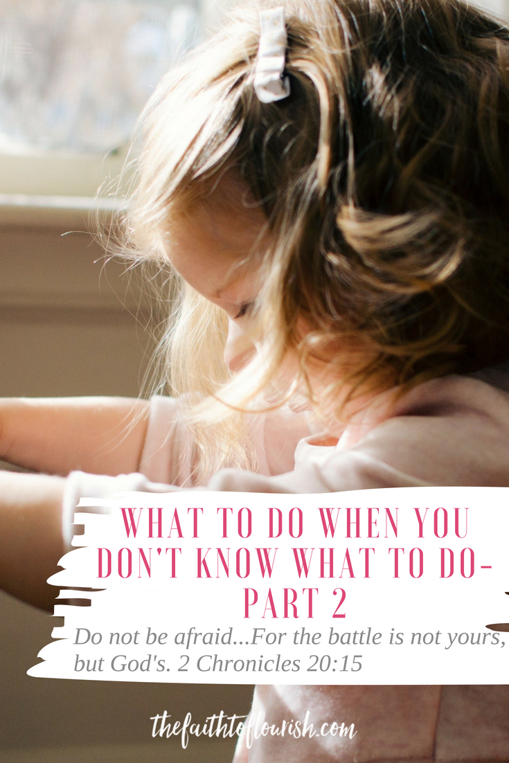 What to do when you don't know what to do - part 2 of 3, trust God. learning to seek and trust god when we are in a crisis is something that takes practice. it is easy to think we can learn to trust God, but when we are in a state of panic is not the time to try and learn. trials come in all forms, sickness, death, mental and emotional illness, depression, anxiety, financial, addiction, alcoholism, loved ones suffering or going wayward and living recklessly. all these situations need faith to fight and endure. we need to hear from god and learn to wait on him and praise him no matter how bad the situation may seem. this lesson from 2 Chronicles will instruct and inspire you to praise god in your trials and trust him to protect and save you in your battles.