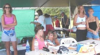 under the tent, volunteers worked hard to keep things running smoothly