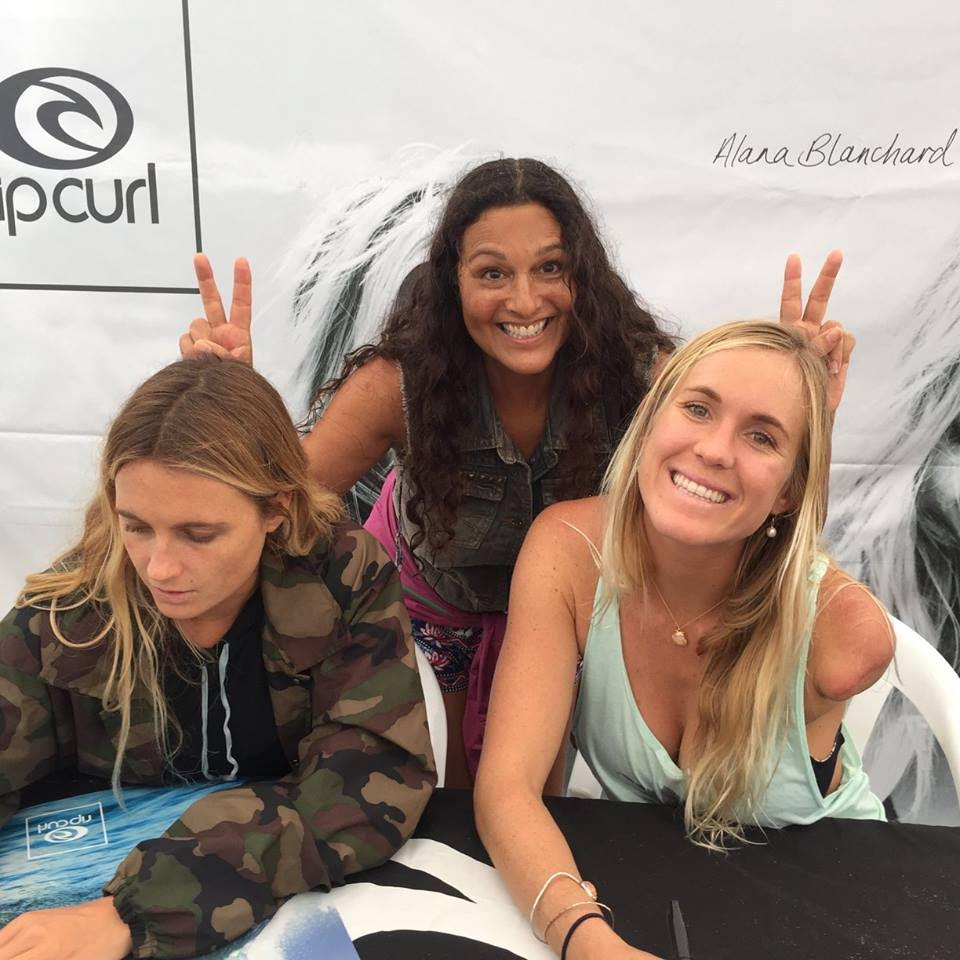 Alana Blanchard, Bethany Hamilton & Claudia Cowden