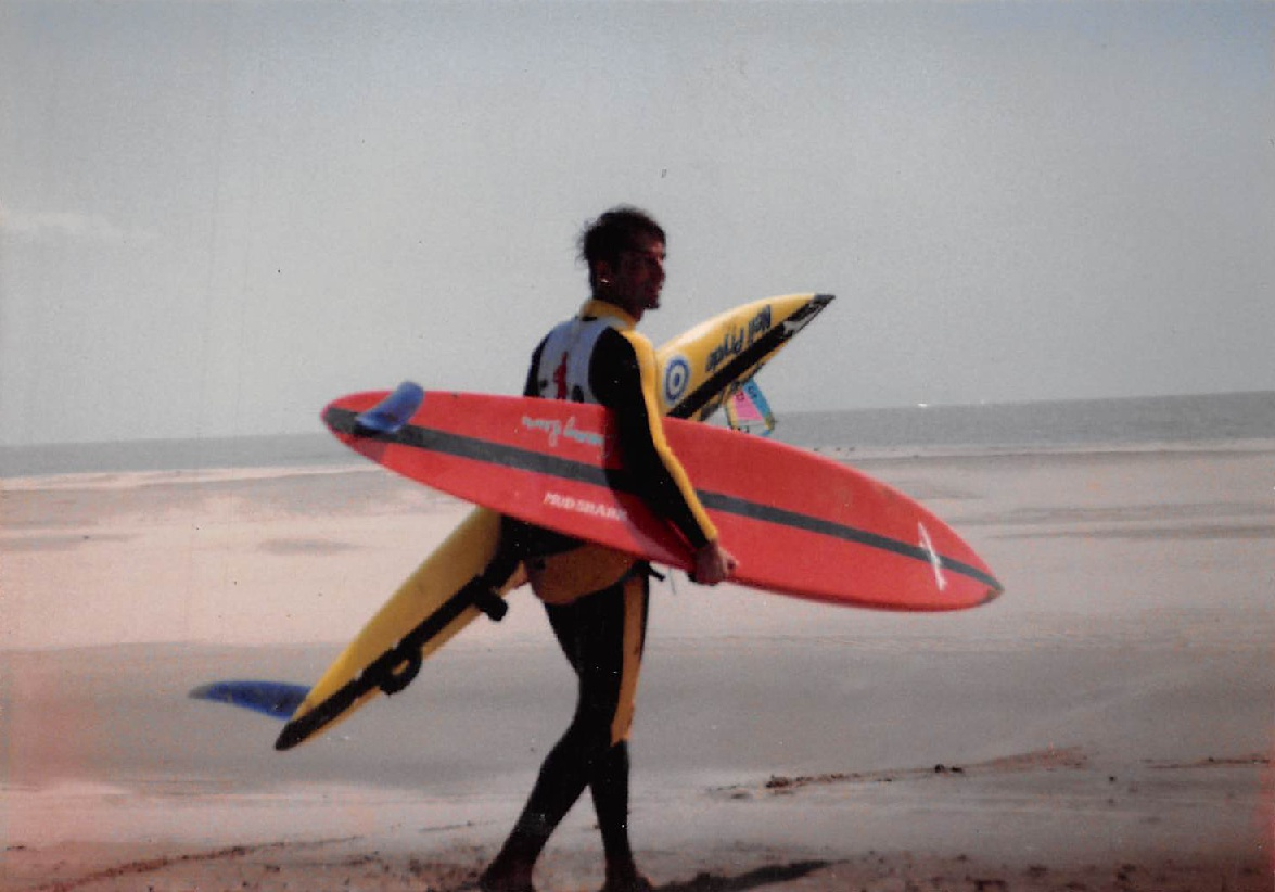 - I was in high school, in a little bit of trouble, and ran away from home to Kauai where a friend of mine was living. We surfed Pakalas alone, surfed Hanalei and explored Kauai. It was then that I decided this was the place I wanted to be, so I packed up and moved to Kauai in 1970. I surfed during the day, worked in restaurants at night and occasionally attended Kauai Community College.Photo: Charlie Cowden | Speed trials south of France | 1986