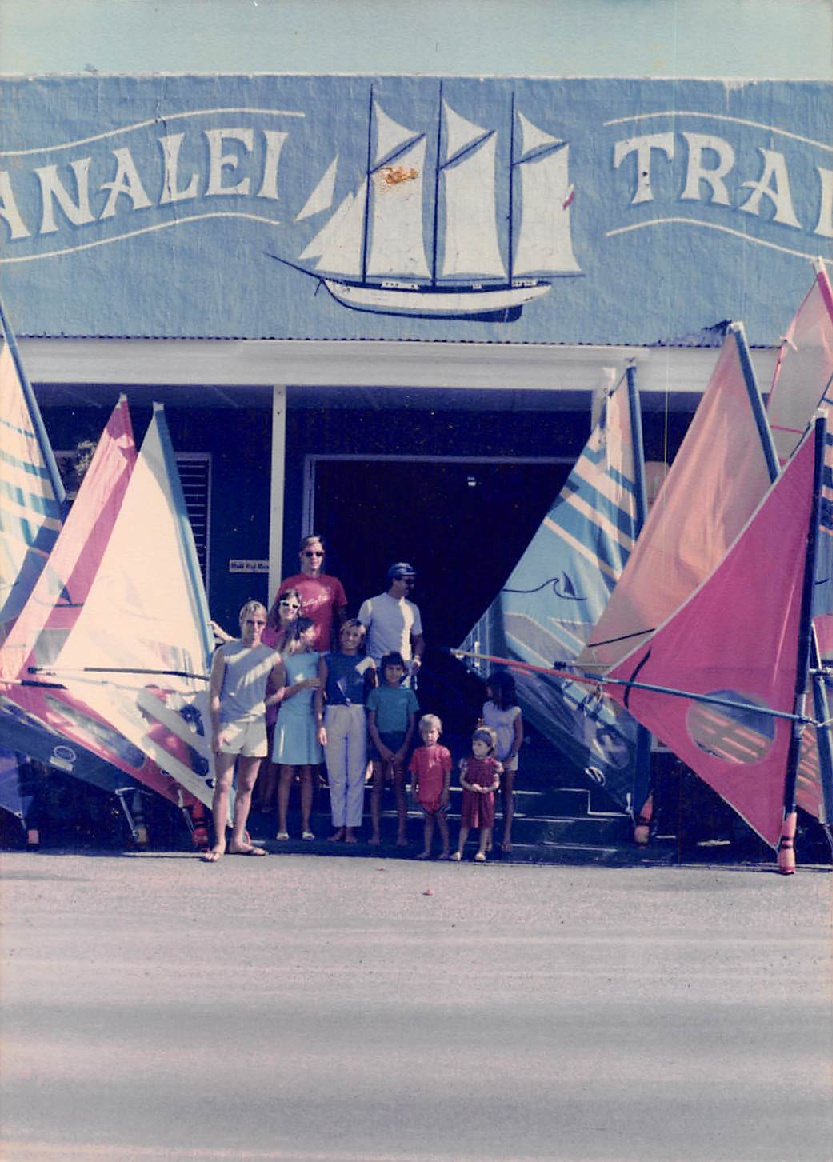 Hanalei Sailboards located in the Hanalei Trader building — Circa 1985