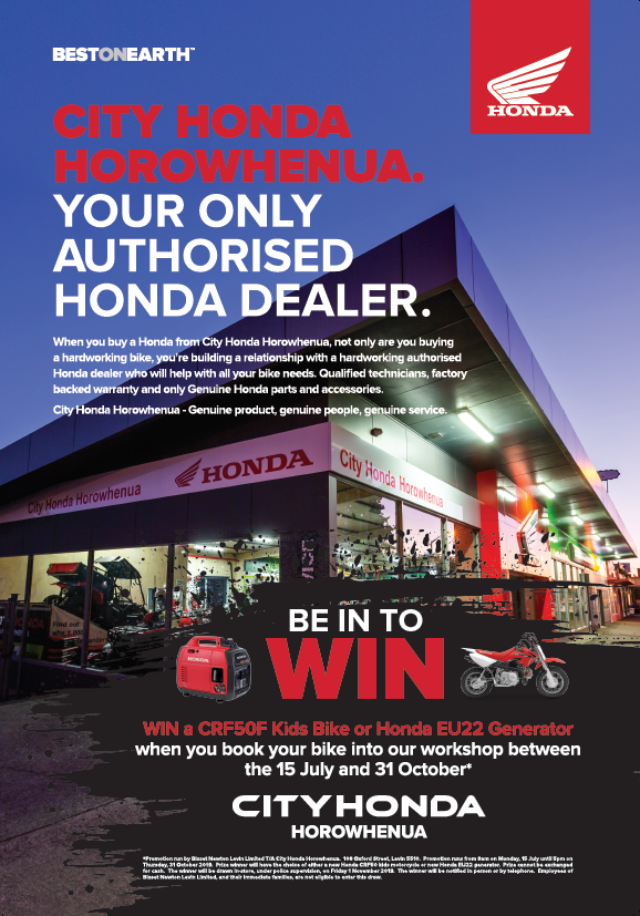 Be in to win with City Honda Horowhenua