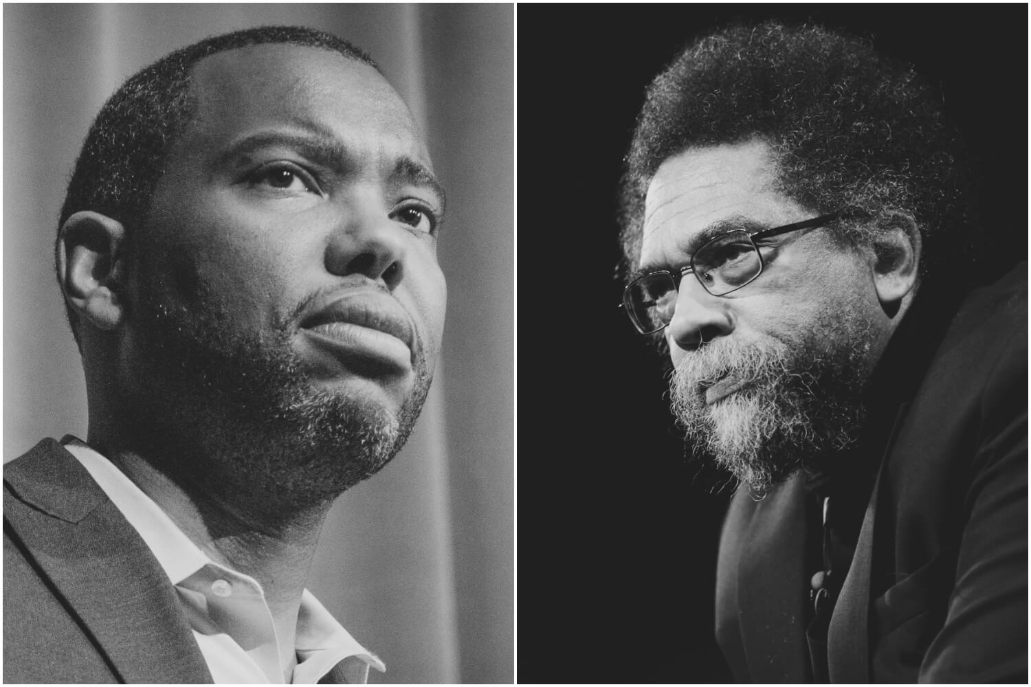 Left to Right: Ta-Nehisi Coates and Cornel West