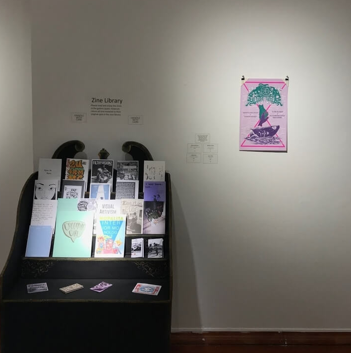 Zine Library within  Diffused Reflections