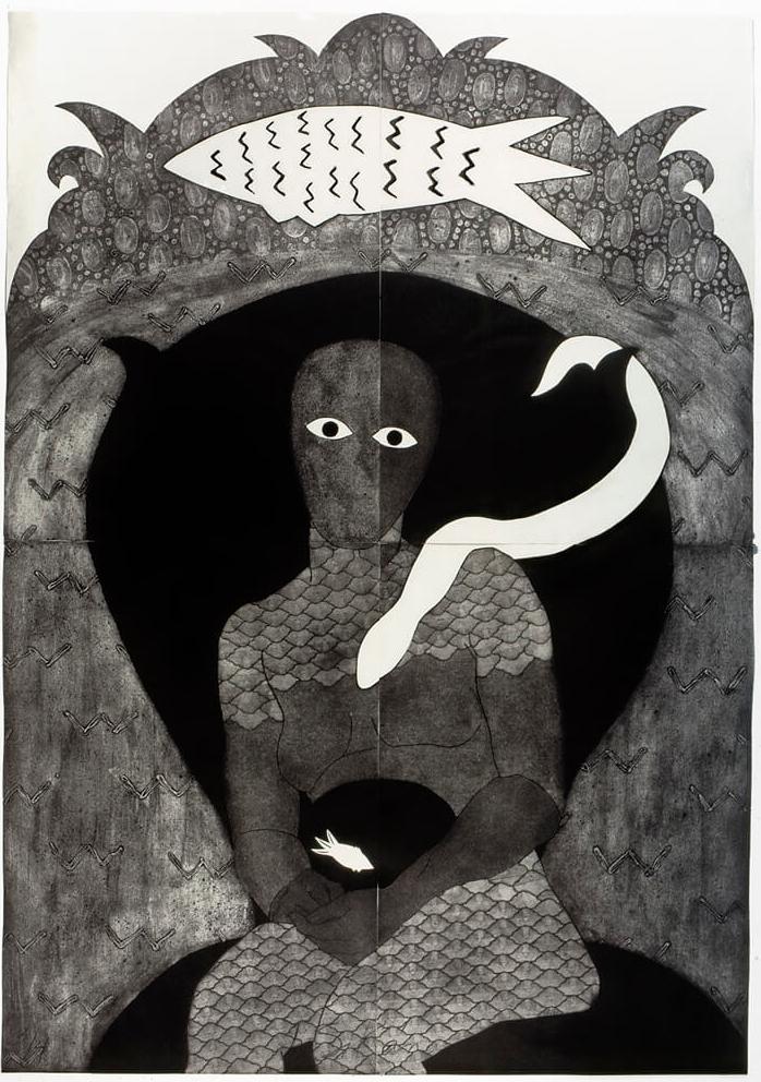 Sikán , Collograph, 1991