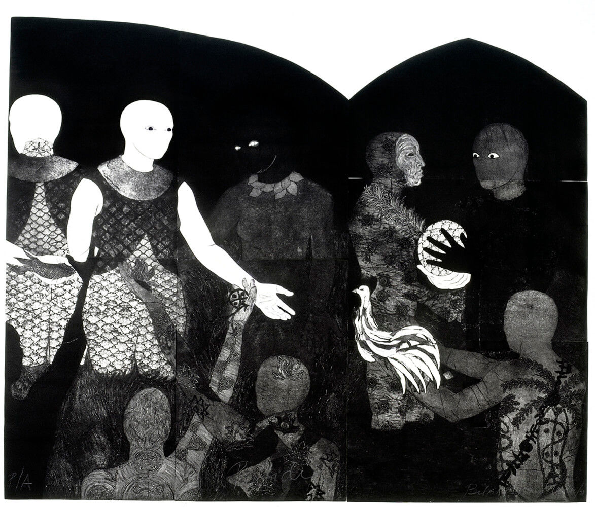 Detail of  Treachery , Collograph, 1998 (Images courtesy of the Belkis Ayón Estate)