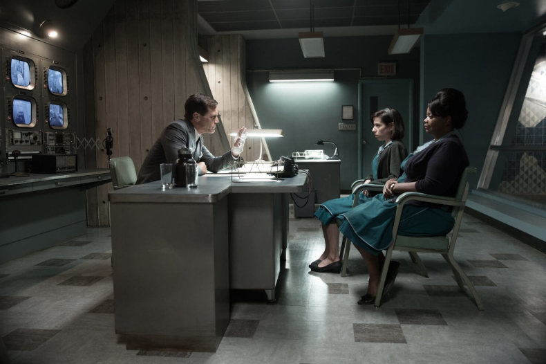 Michael Shannon, Sally Hawkins and Octavia Spencer in the film  The Shape of Water.
