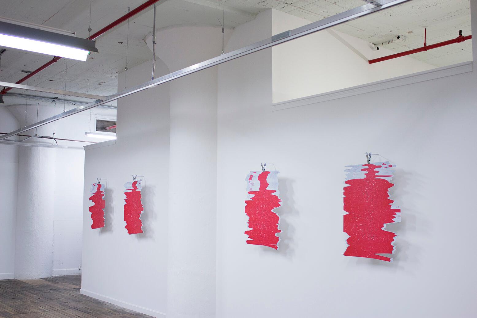 Adolfo Bimer,  SCANS , Vistas de instalación. Cleveland Print Room, Cleveland, United States, 2015