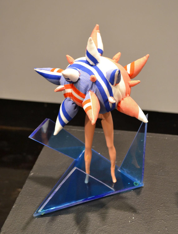 Cosmonaut , Barbie soft sculpture and plexiglas
