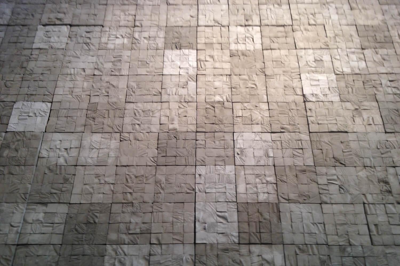 Selva Aparicio,  Layers , 2016, cadaver molds on Portland cement