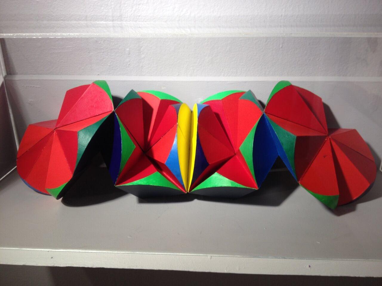 """Tributo a Tamayo,"" 1970, cardboard, 7 ⅞ x 7 ⅞ x 7 ⅞ inches"