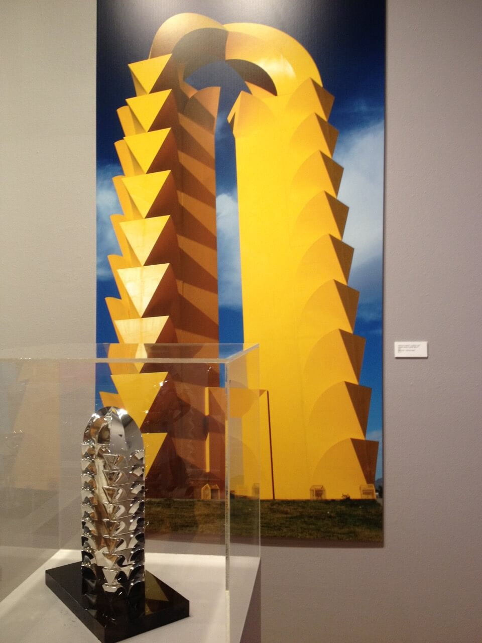 "Photo of ""La Puerta de Torreón"" on display at ""Sebastián: The Geometry of Space and Time"""