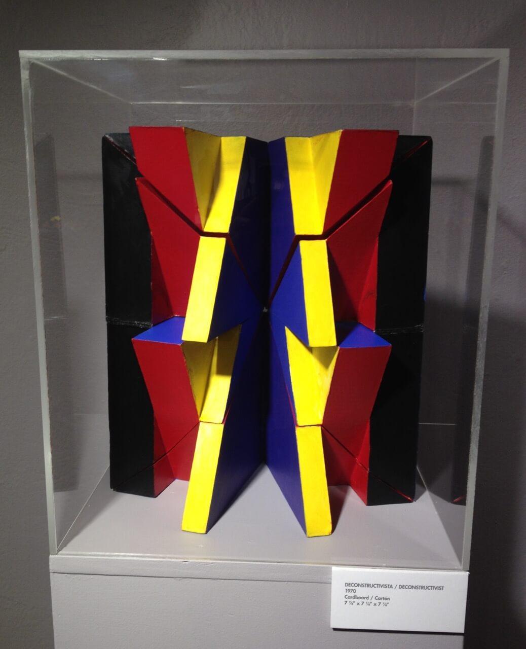 """Deconstructivista,"" 1970, cardboard, 7 ⅞ x 7 ⅞ x 7 ⅞ inches"