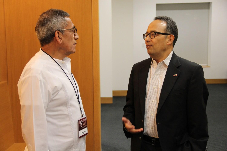 Actor and Producer Eligio Melendez and Mexican Consul General Carlos Gonzalez Gutierrez